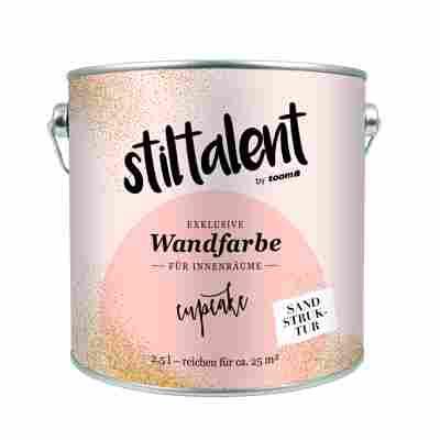 Stiltalent Wandfarbe 'Cupcake' Sandstruktur 2,5 l