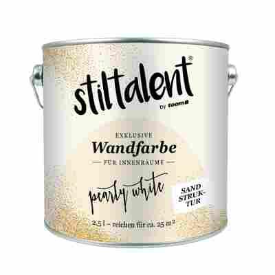 Stiltalent Wandfarbe 'Pearly White' Sandstruktur 2,5 l