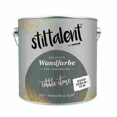 Stiltalent Wandfarbe 'Cobble Stone' Sandstruktur 2,5 l