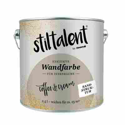 Stiltalent Wandfarbe 'Coffee Cream' Sandstruktur 2,5 l