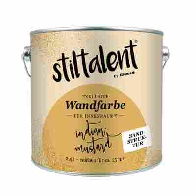 Wandfarbe 'Indian Mustard' Sandstruktur 2,5 l