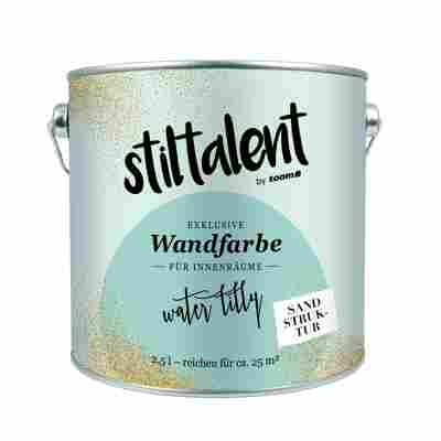 Stiltalent Wandfarbe 'Waterlilly' Sandstruktur 2,5 l