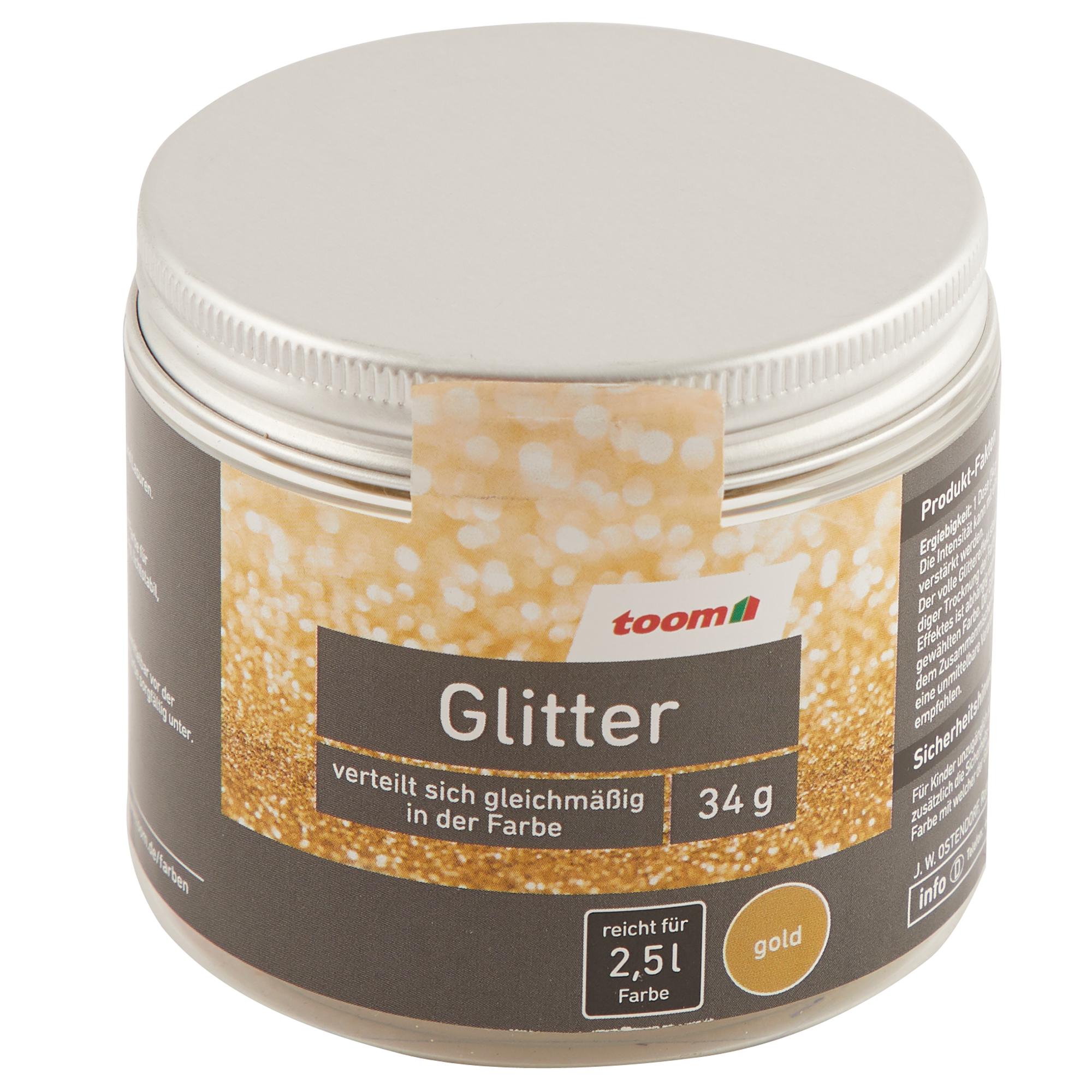 Glitter für Goldeffekte in Farben
