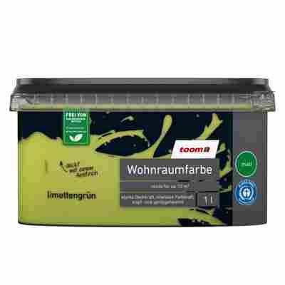 Wohnraumfarbe 'Limettengrün' konservierungsmittelfrei matt 1 l