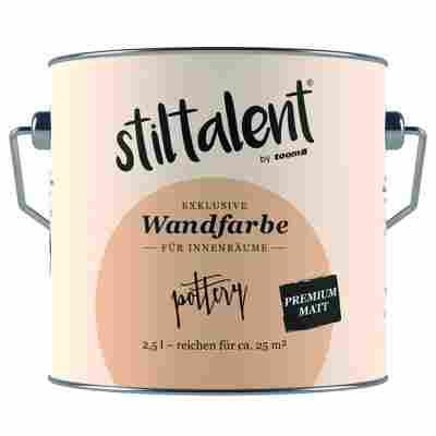 Wandfarbe 'Poterry' Premium Matt konservierungsmittelfrei 2,5 l