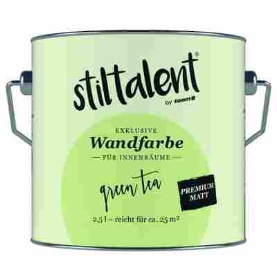 Wandfarbe 'Green Tea' Premium Matt konservierungsmittelfrei 2,5 l
