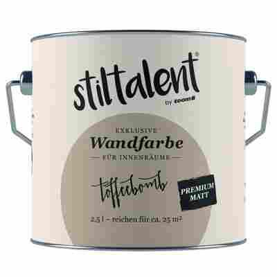 Wandfarbe 'Toffeebomb' Premium Matt konservierungsmittelfrei 2,5 l