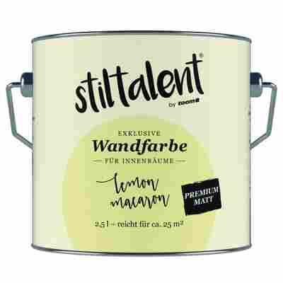 Wandfarbe 'Lemon Macaron' Premium Matt konservierungsmittelfrei 2,5 l