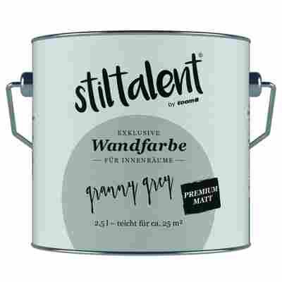 Wandfarbe 'Granny Grey' Premium Matt konservierungsmittelfrei 2,5 l