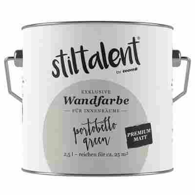 Wandfarbe 'Portobello Green' Premium Matt konservierungsmittelfrei 2,5 l