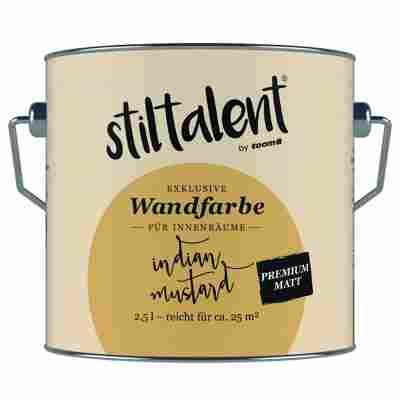 Wandfarbe 'Indian Mustard' Premium Matt konservierungsmittelfrei 2,5 l