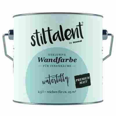 Wandfarbe 'Waterlilly' Premium Matt konservierungsmittelfrei 2,5 l