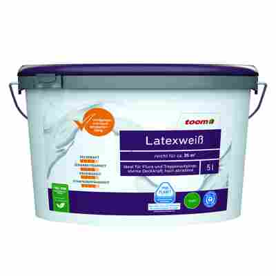 Latexfarbe weiß konservierungsmittelfrei matt 5 l