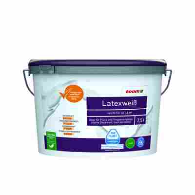 Latexfarbe weiß konservierungsmittelfrei matt 2,5 l