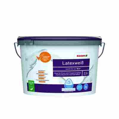 Latexfarbe weiß konservierungsmittelfrei seidenglänzend 2,5 l