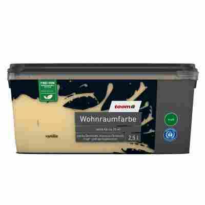 Wohnraumfarbe 'Vanille' konservierungsmittelfrei matt 2,5 l