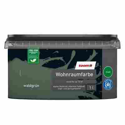 Wohnraumfarbe 'Waldgrün' konservierungsmittelfrei matt 1 l