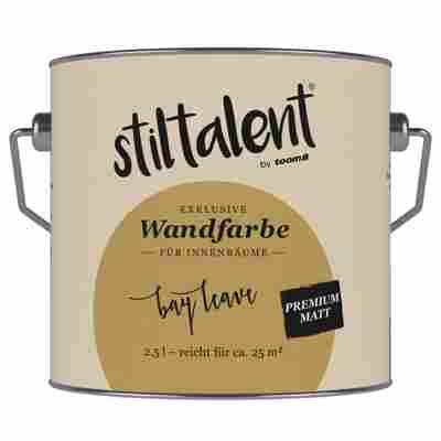 Wandfarbe 'Bay Leave' Premium Matt konservierungsmittelfrei 2,5 l