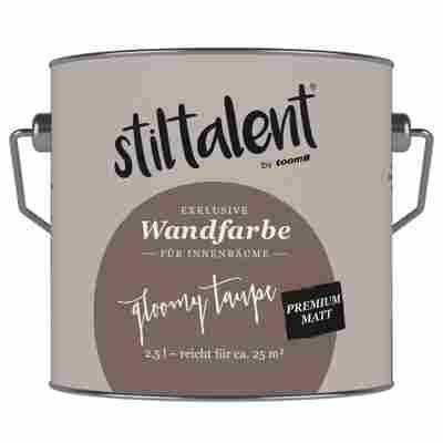 Wandfarbe 'Gloomy Taupe' Premium Matt konservierungsmittelfrei 2,5 l