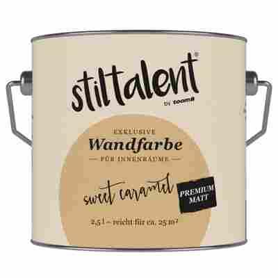 Wandfarbe 'Sweet Caramel' Premium Matt konservierungsmittelfrei 2,5 l