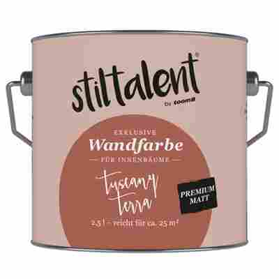 Wandfarbe 'Tuscany Terra' Premium Matt konservierungsmittelfrei 2,5 l
