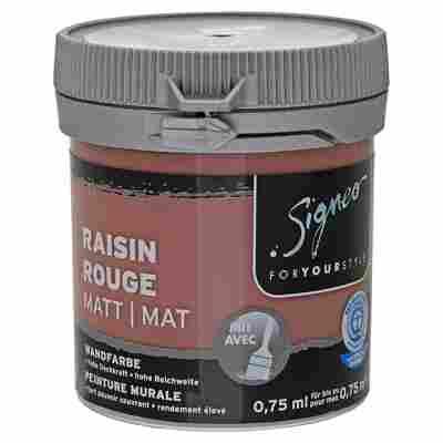Wandfarbe matt 'Raisin Rouge' 75 ml