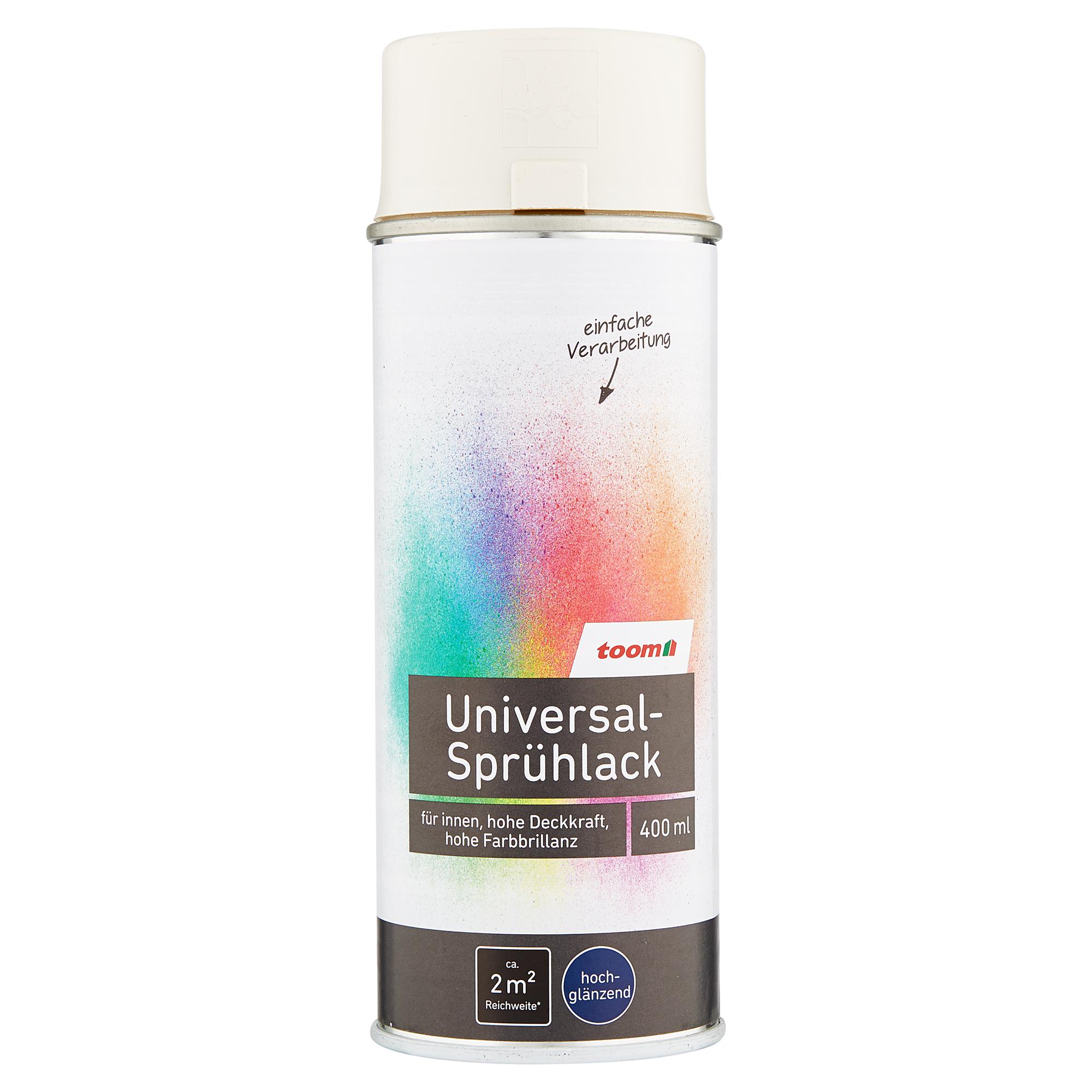 universal-sprühlack hochglänzend cremeweiß 400 ml ǀ toom baumarkt