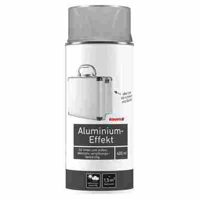 Aluminium-Effekt Sprühlack glänzend silbern 400 ml