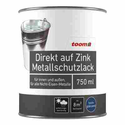 Direkt auf Zink Metallschutzlack silbern hochglänzend 750 ml