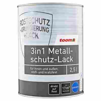 3in1 Metallschutz-Lack silbern glänzend 2500 ml