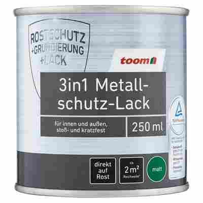 3in1 Metallschutz-Lack dunkelgrau matt 250 ml
