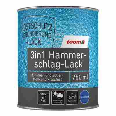 3in1 Hammerschlag-Lack silbergrau glänzend 750 ml