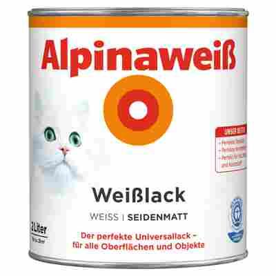 Alpinaweiß Weißlack, seidenmatt, 2000 ml