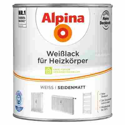 Weißlack für Heizkörper seidenmatt 2000 ml