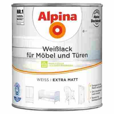 Weißlack für Möbel und Türen extra matt 2000 ml