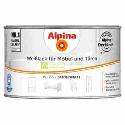 Weißlack für Möbel und Türen seidenmatt 300 ml