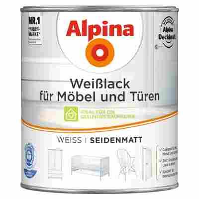 Weißlack für Möbel und Türen seidenmatt 750 ml