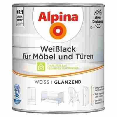 Weißlack für Möbel und Türen glänzend 750 ml