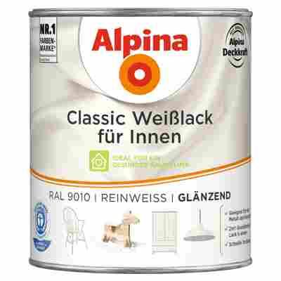 Alpina Classic Weißlack für Innen, reinweiß, glänzend, 750 ml