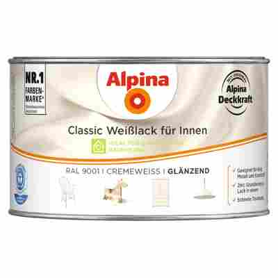 Alpina Classic Weißlack für Innen, cremeweiß, glänzend, 300 ml
