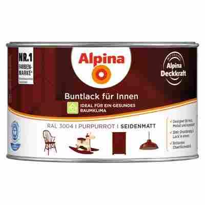 Alpina Buntlack für Innen purpurrot seidenmatt 300 ml