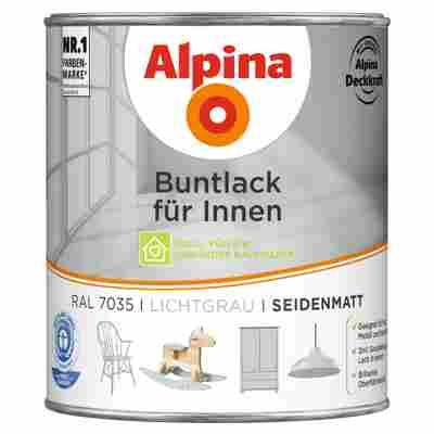 Alpina Buntlack für Innen lichtgrau seidenmatt 750 ml