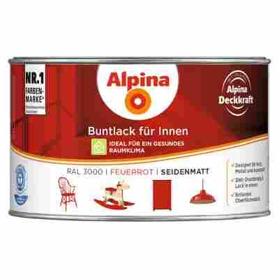 Alpina Buntlack für Innen feuerrot seidenmatt 300 ml