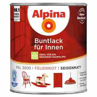 Alpina Buntlack für Innen feuerrot seidenmatt 750 ml