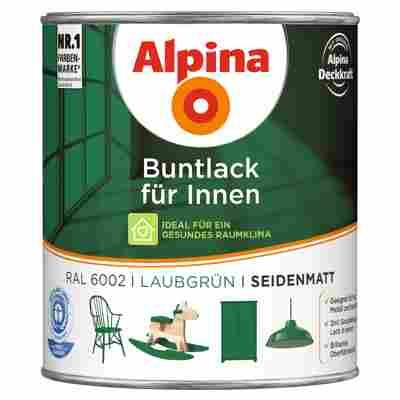 Alpina Buntlack für Innen laubgrün seidenmatt 750 ml