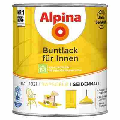 Alpina Buntlack für Innen rapsgelb seidenmatt 750 ml