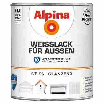 Alpina Weißlack für Außen, glänzend, 750 ml