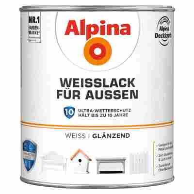 Alpina Weißlack für Außen, glänzend, 2000 ml