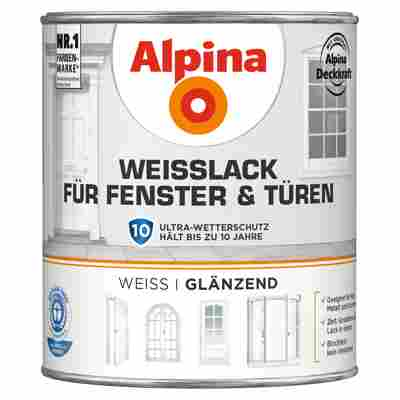 Alpina Weißlack für Fenster und Türen, glänzend, 750 ml