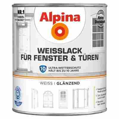 Alpina Weißlack für Fenster und Türen, glänzend, 2000 ml